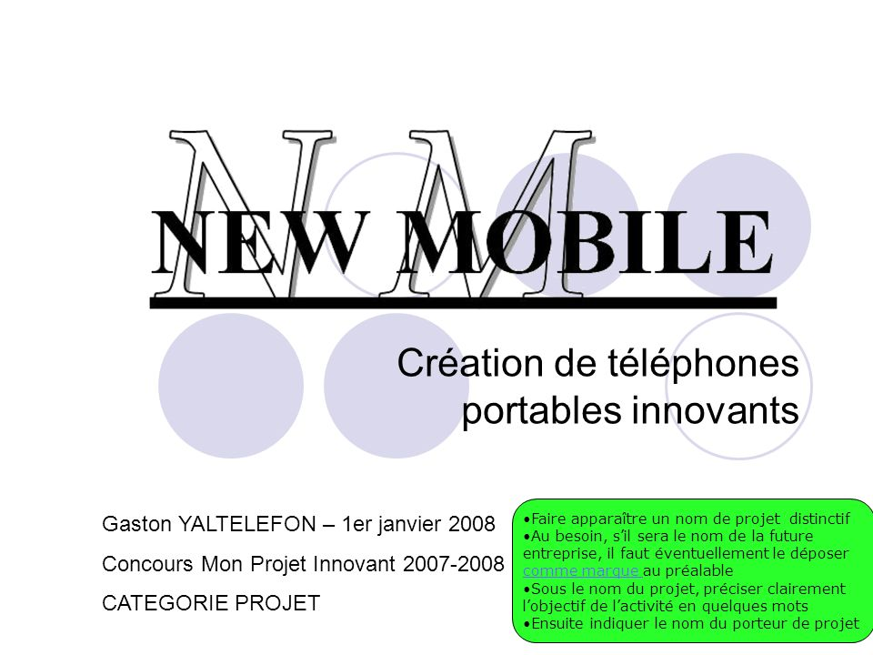 Création de téléphones portables innovants
