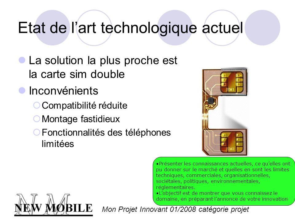 Etat de l'art technologique actuel