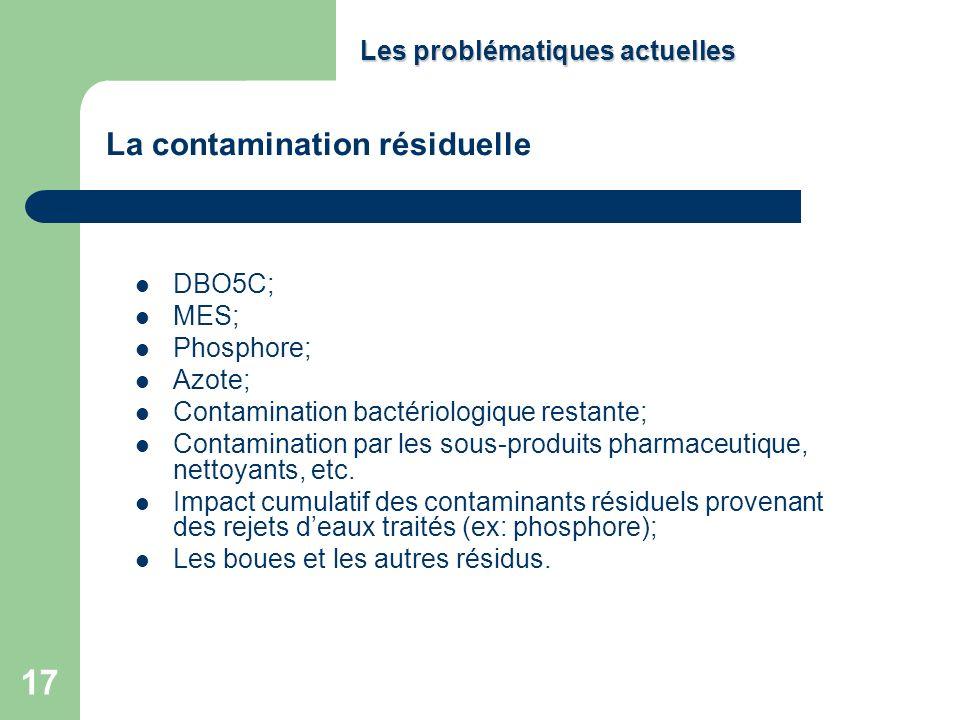 La contamination résiduelle