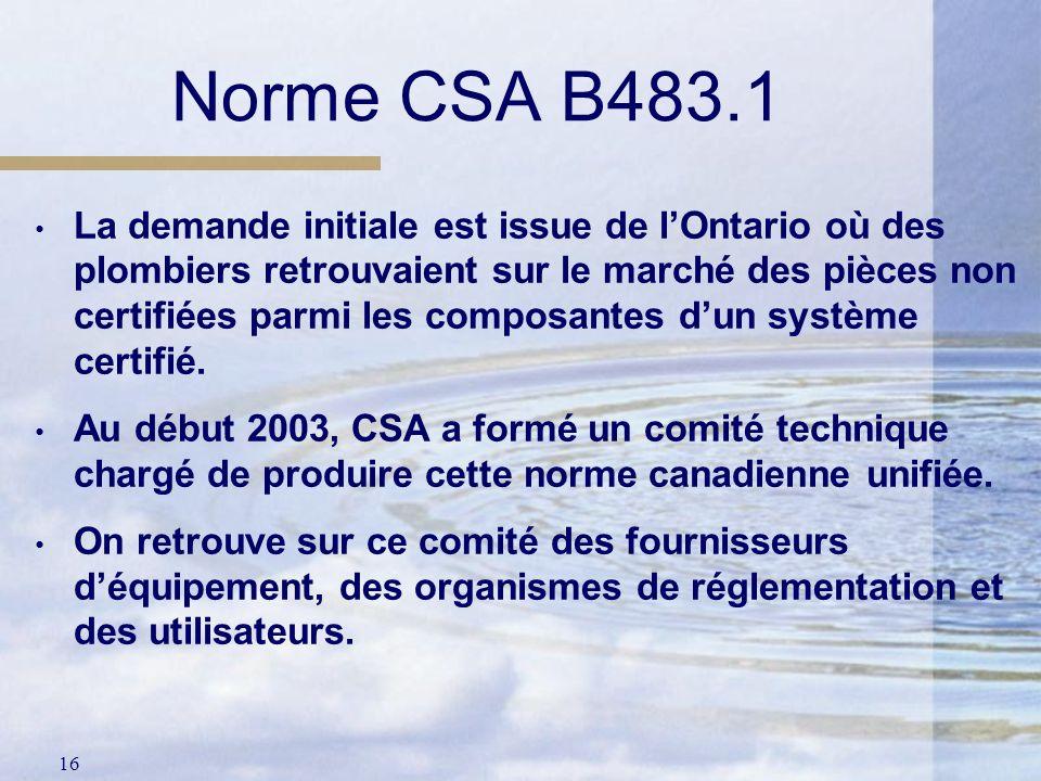 Norme CSA B483.1