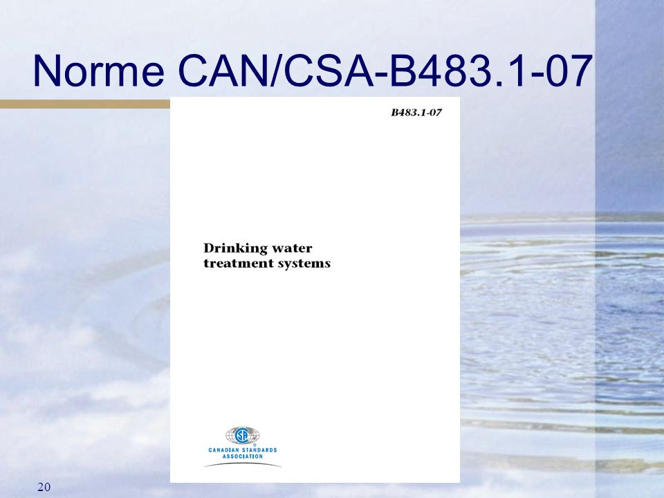 Norme CAN/CSA-B483.1-07