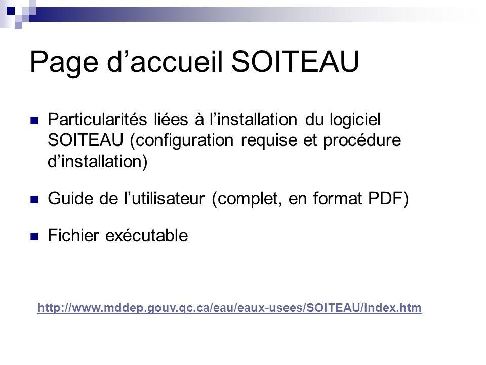 Page d'accueil SOITEAU