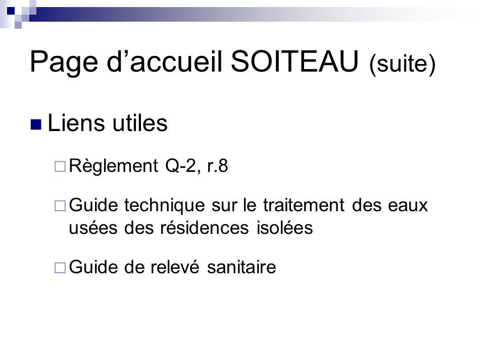 Page d'accueil SOITEAU (suite)