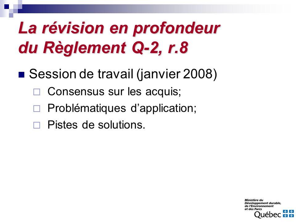 La révision en profondeur du Règlement Q-2, r.8