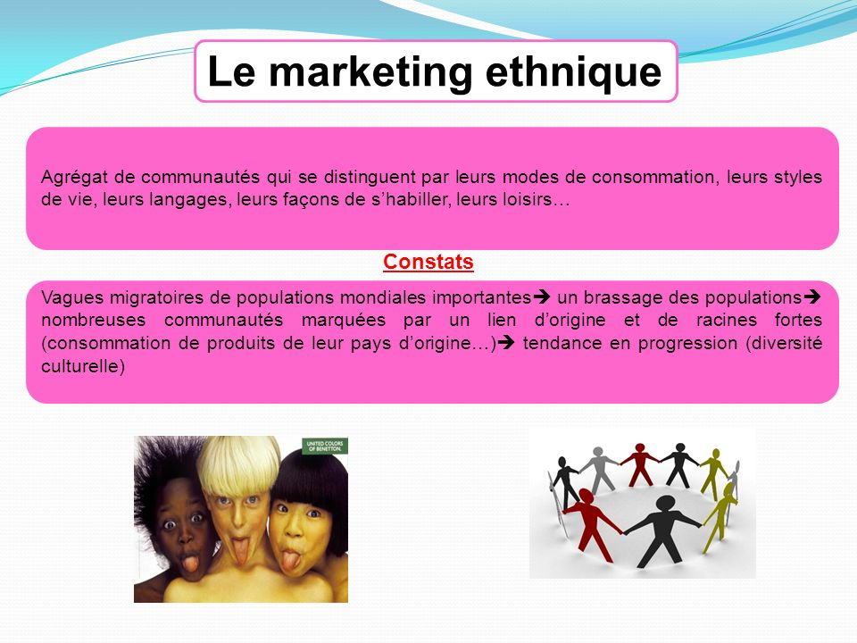 Le marketing ethnique Constats