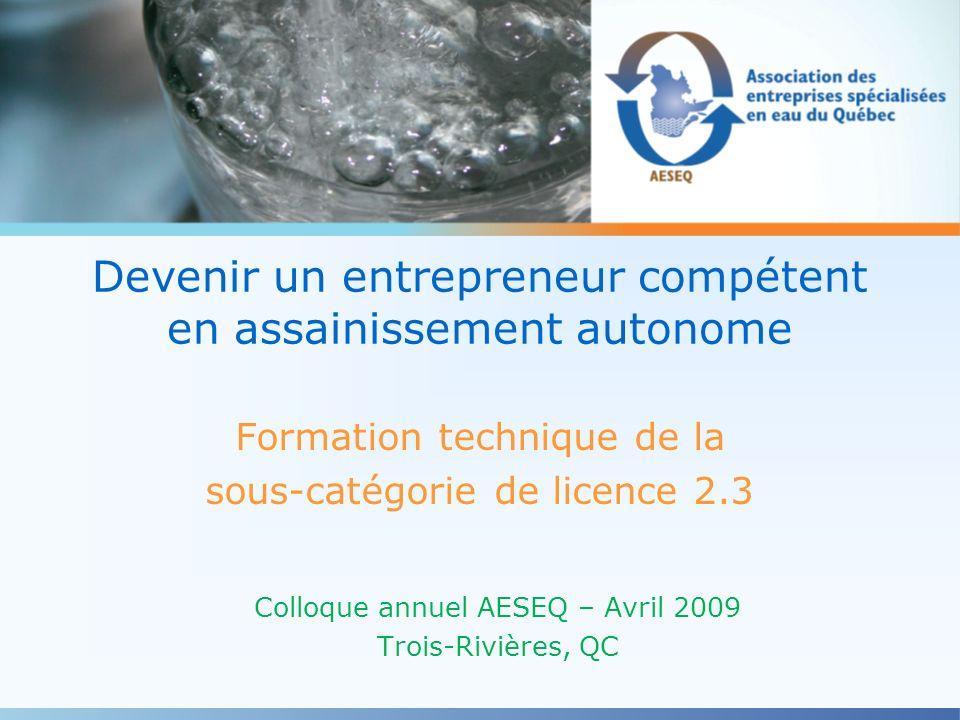 Devenir un entrepreneur compétent en assainissement autonome