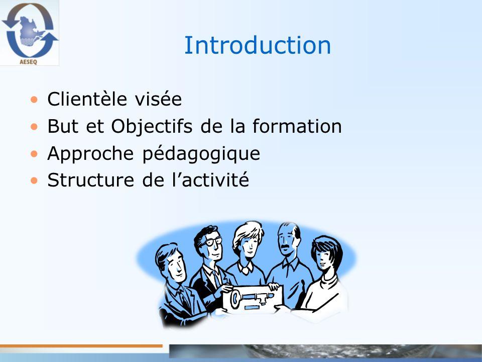 Introduction Clientèle visée But et Objectifs de la formation