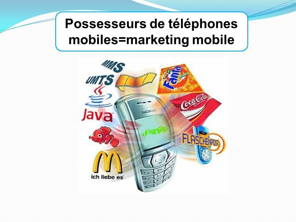Possesseurs de téléphones mobiles=marketing mobile