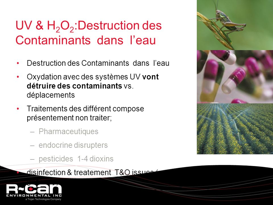 UV & H2O2:Destruction des Contaminants dans l'eau