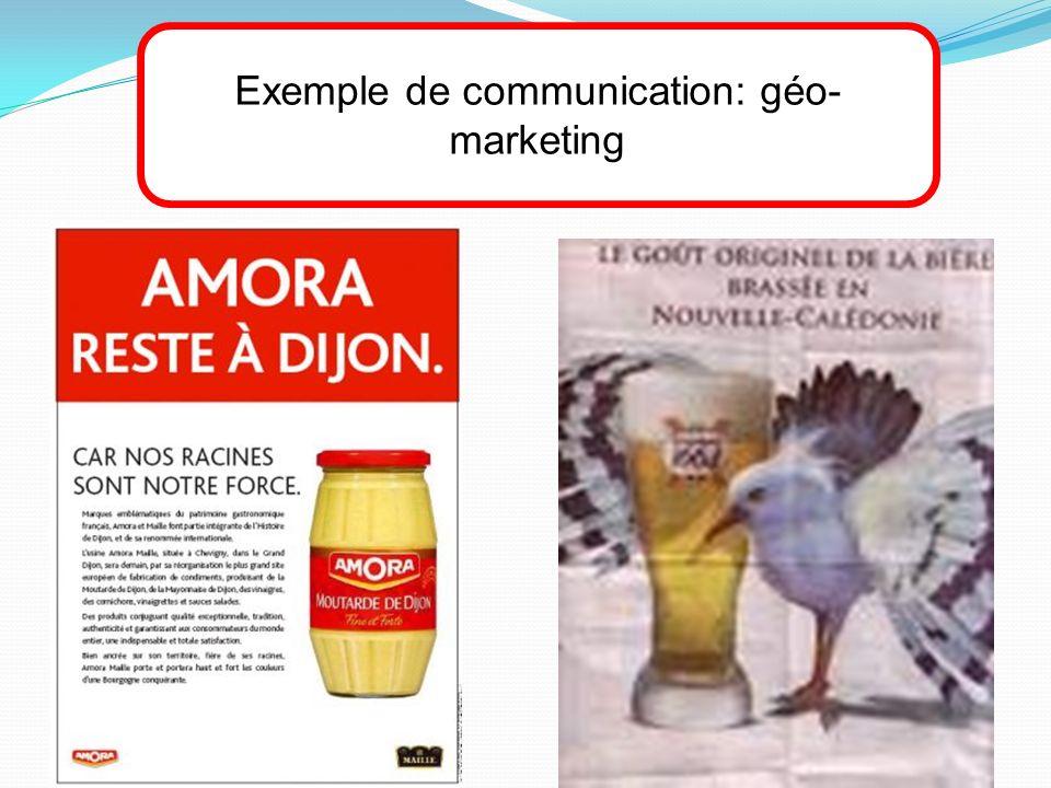 Exemple de communication: géo-marketing