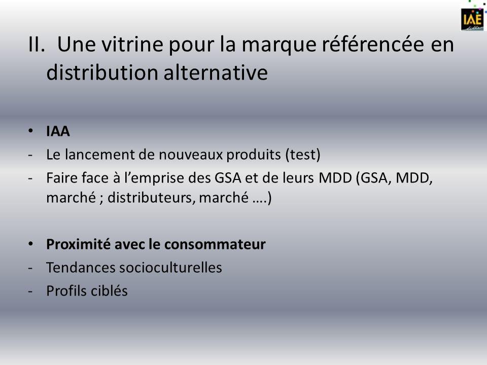 II. Une vitrine pour la marque référencée en distribution alternative