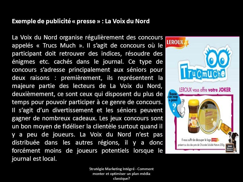 Exemple de publicité « presse » : La Voix du Nord