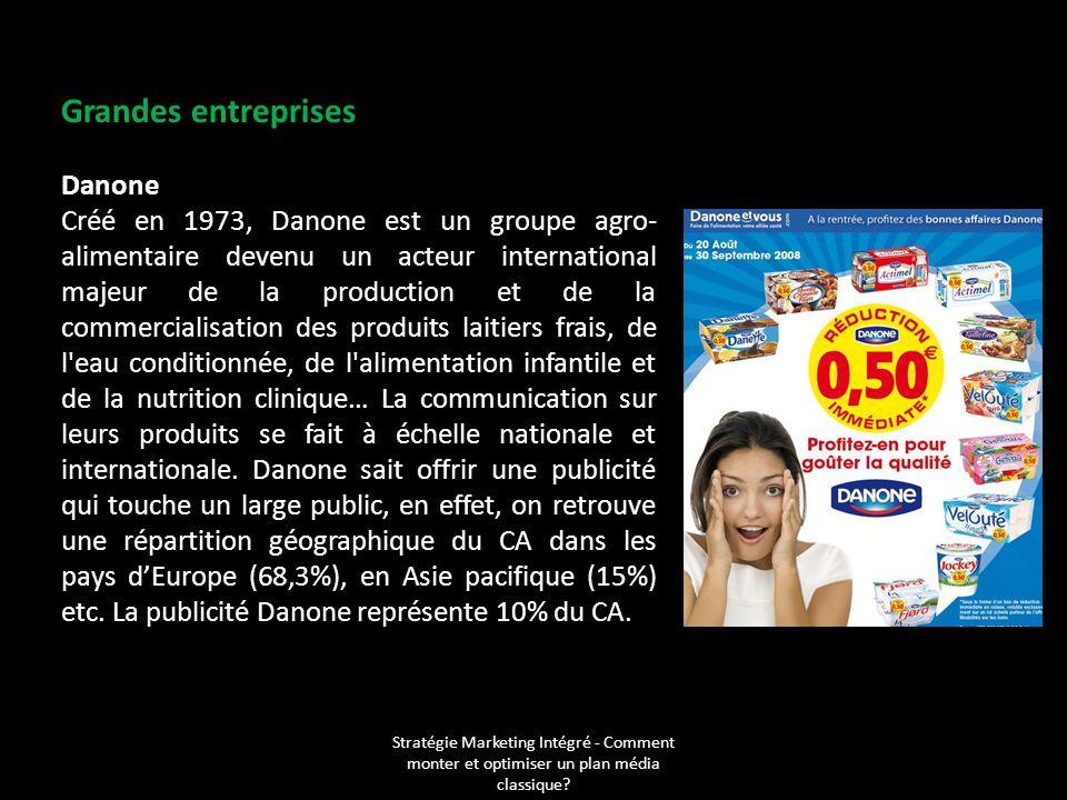 Grandes entreprises Danone