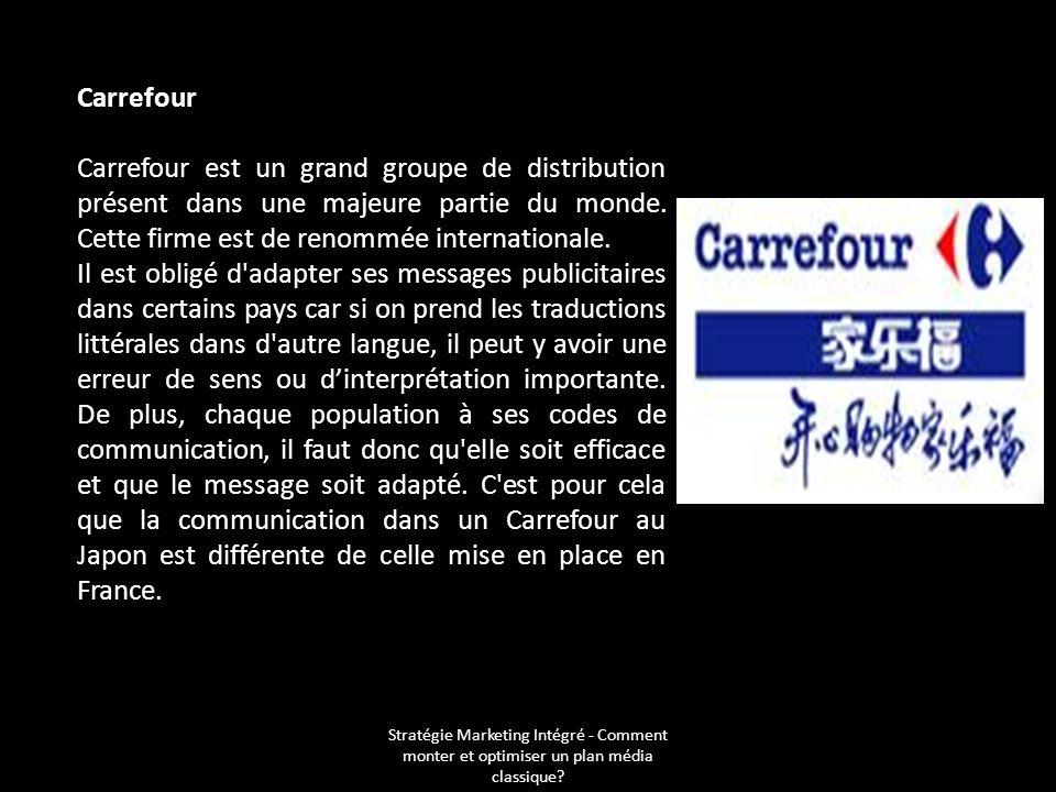 Carrefour Carrefour est un grand groupe de distribution présent dans une majeure partie du monde. Cette firme est de renommée internationale.