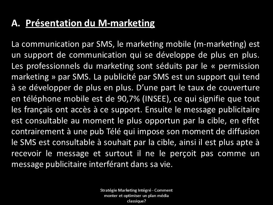 A. Présentation du M-marketing