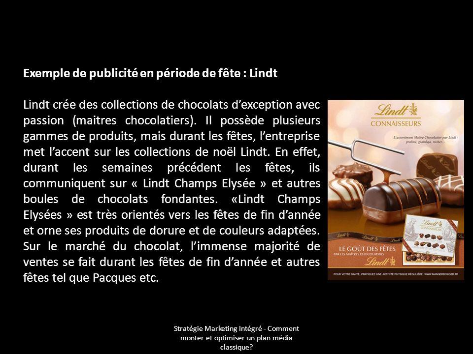 Exemple de publicité en période de fête : Lindt