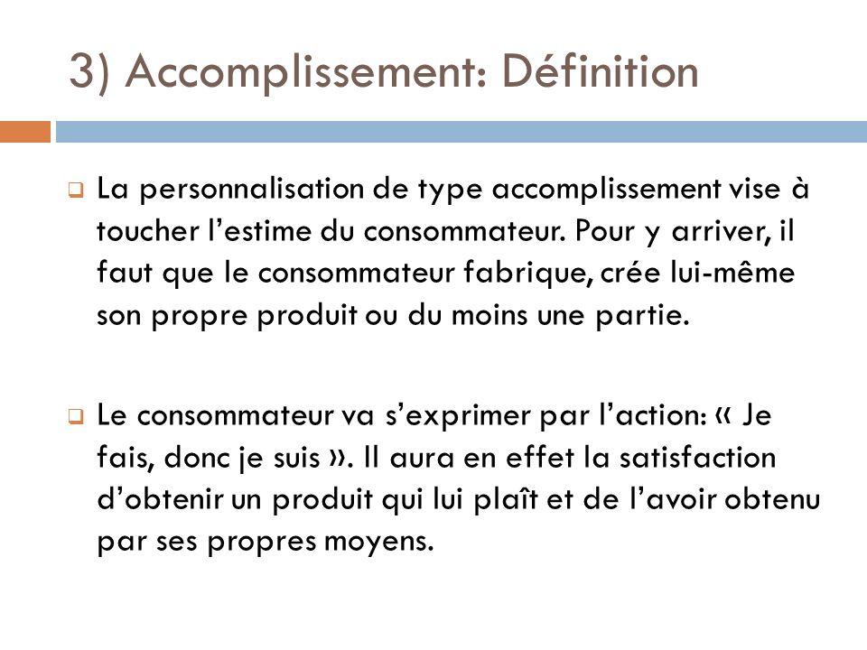 3) Accomplissement: Définition