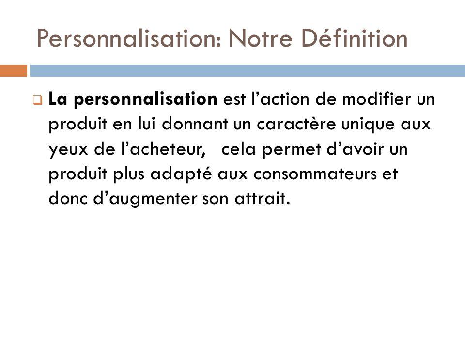 Personnalisation: Notre Définition