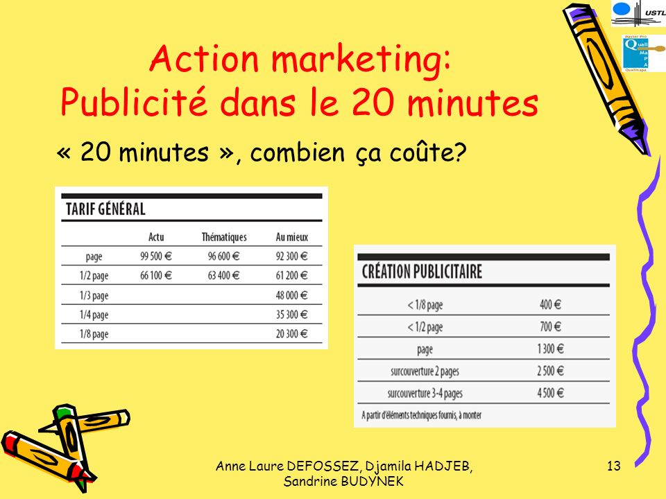 Action marketing: Publicité dans le 20 minutes