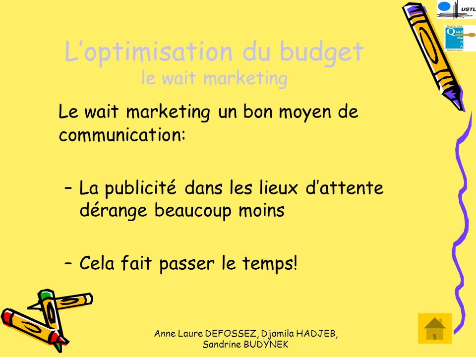 L'optimisation du budget le wait marketing