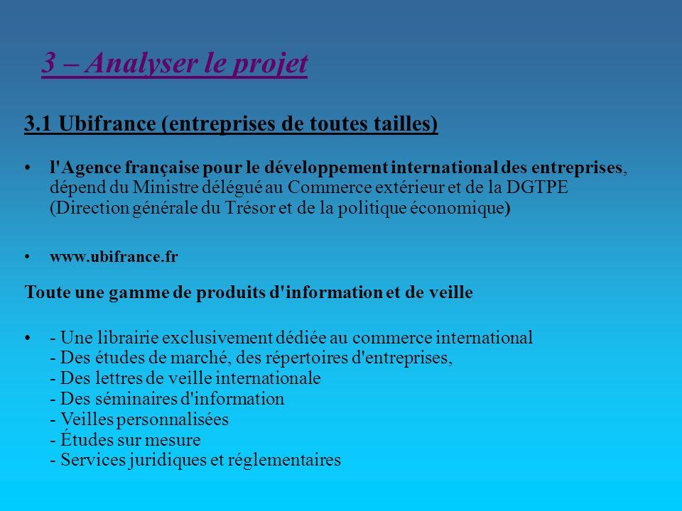 3.1 Ubifrance (entreprises de toutes tailles)