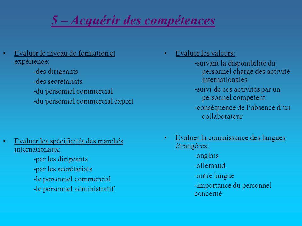 5 – Acquérir des compétences