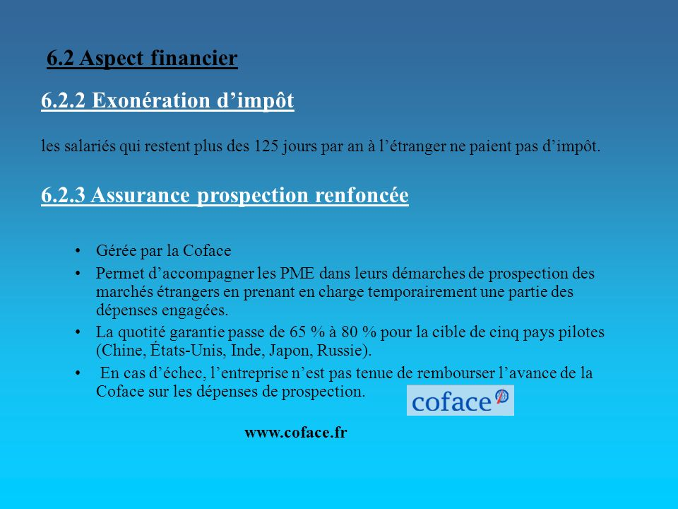6.2.3 Assurance prospection renfoncée