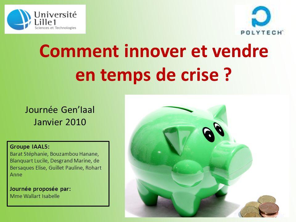 Comment innover et vendre en temps de crise