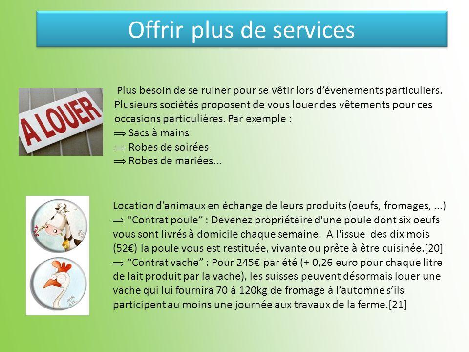 Offrir plus de services