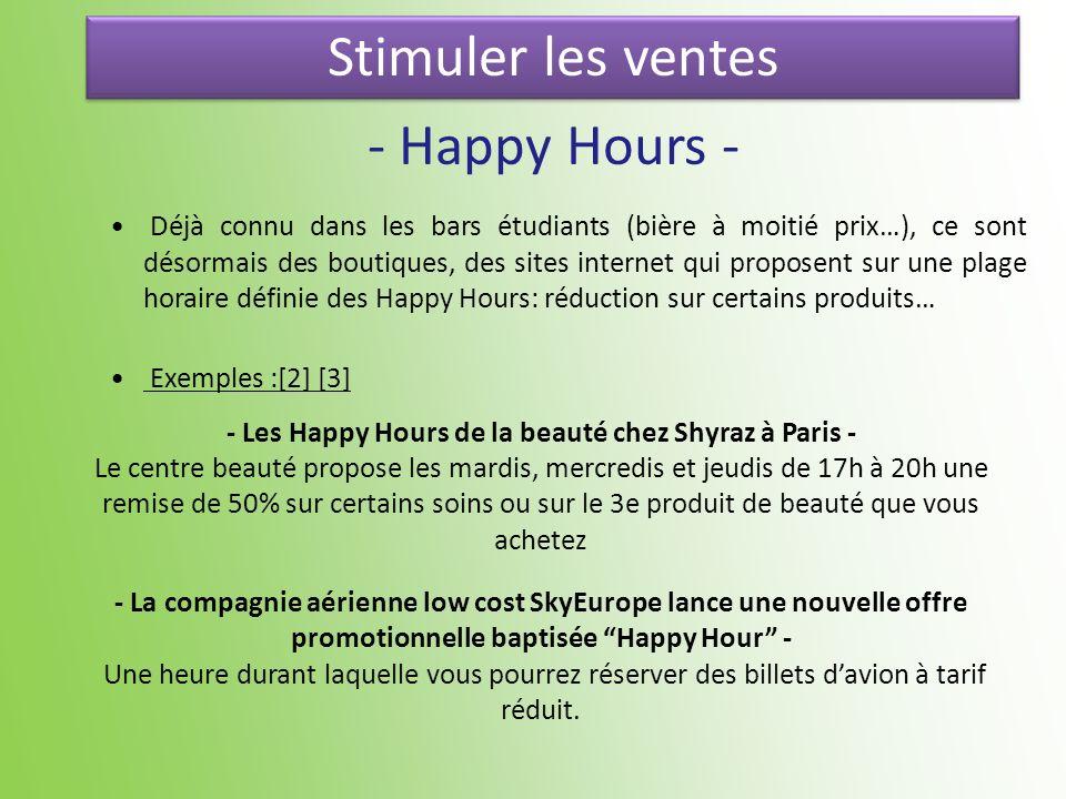 - Les Happy Hours de la beauté chez Shyraz à Paris -