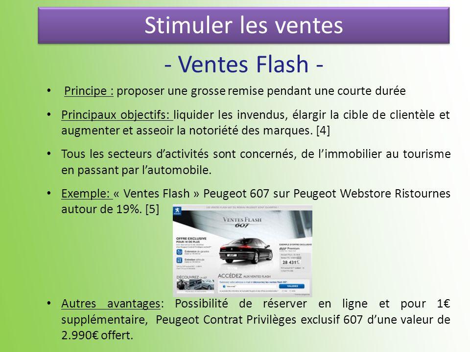 Stimuler les ventes - Ventes Flash -