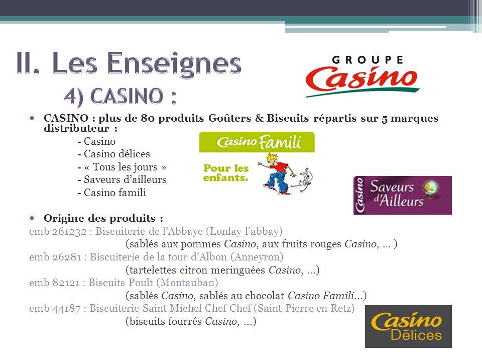II. Les Enseignes 4) CASINO :