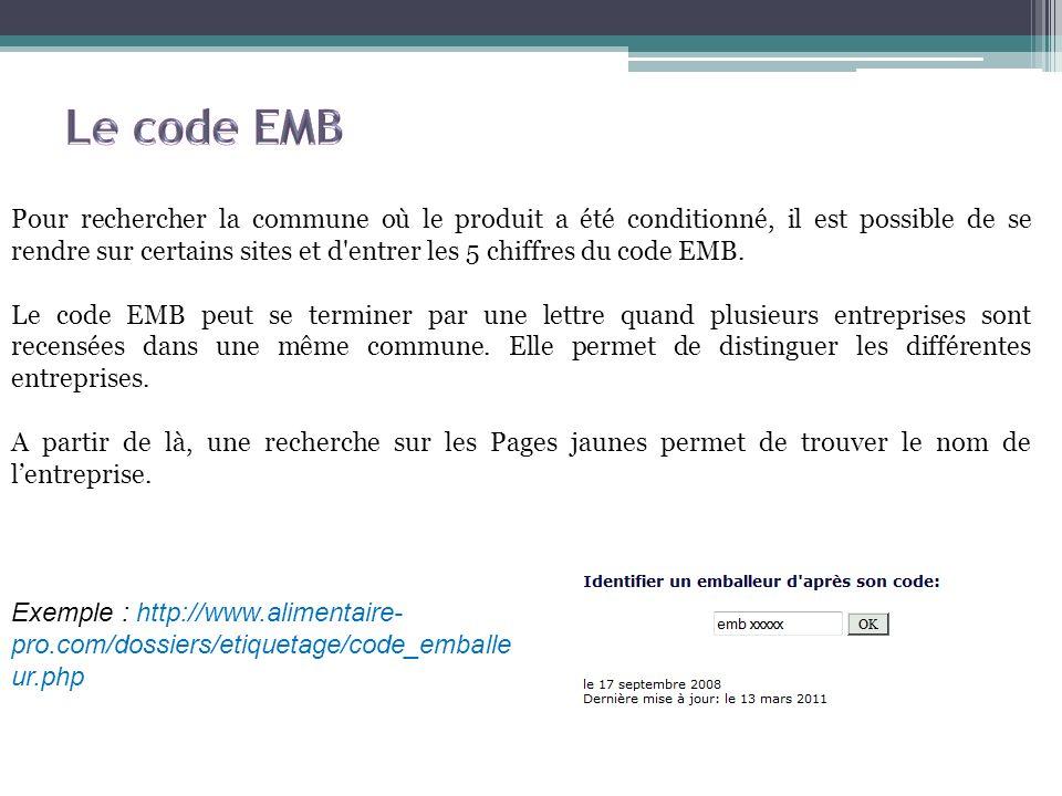 Le code EMB