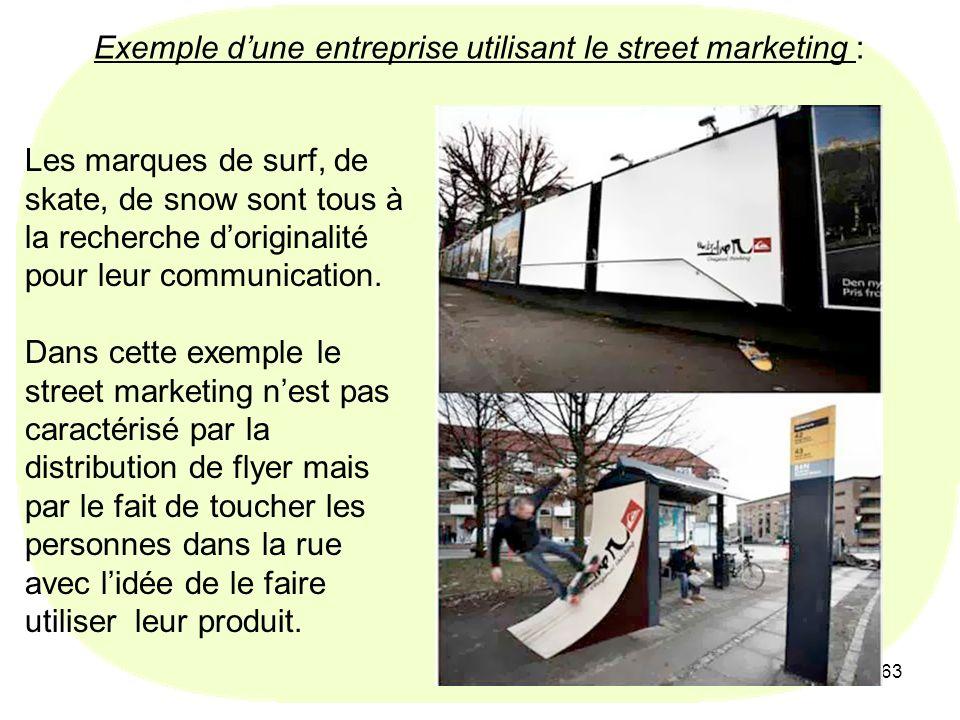 Exemple d'une entreprise utilisant le street marketing :