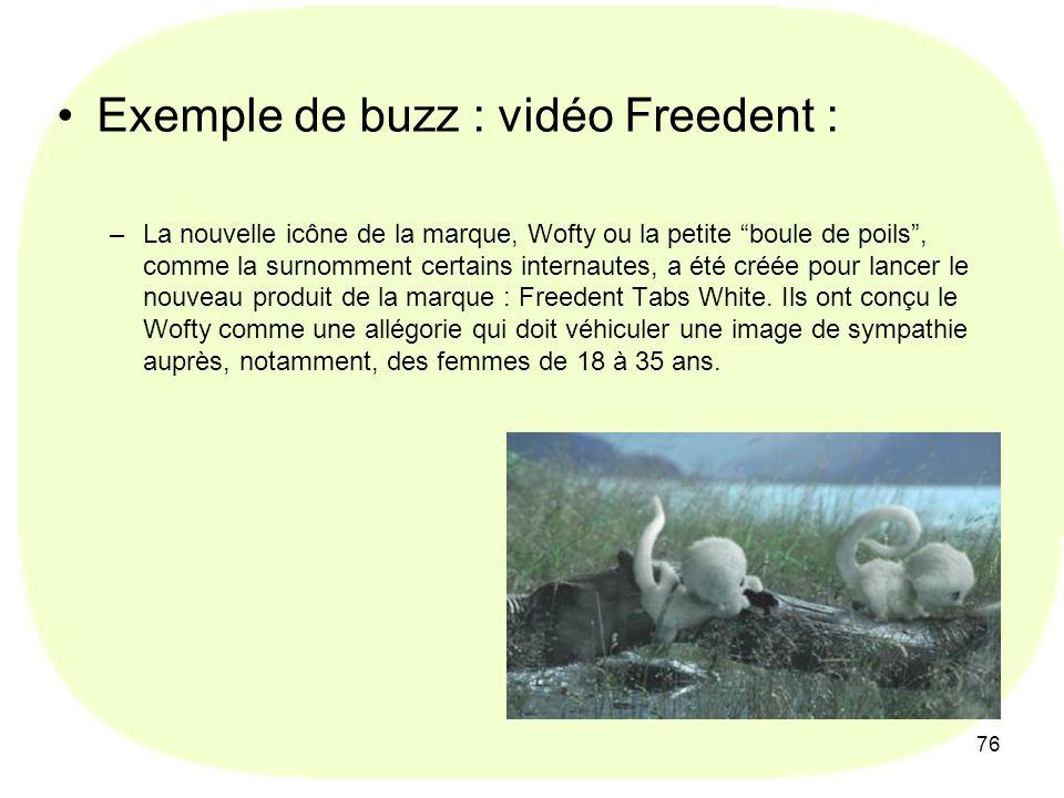 Exemple de buzz : vidéo Freedent :
