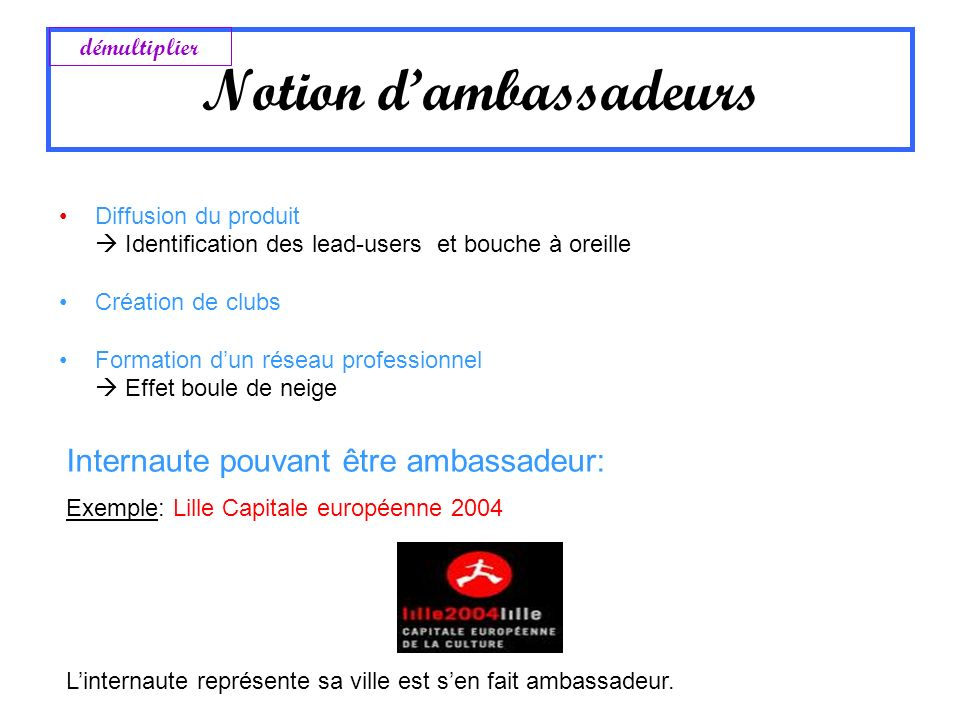 Notion d'ambassadeurs