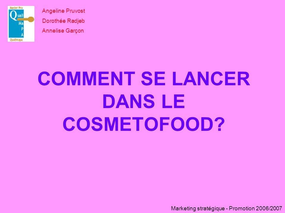 COMMENT SE LANCER DANS LE COSMETOFOOD
