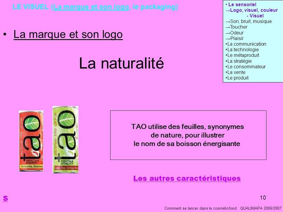 LE VISUEL (La marque et son logo, le packaging)