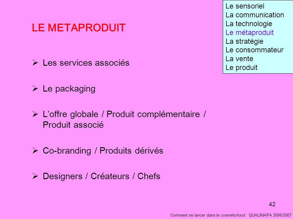 LE METAPRODUIT Les services associés Le packaging