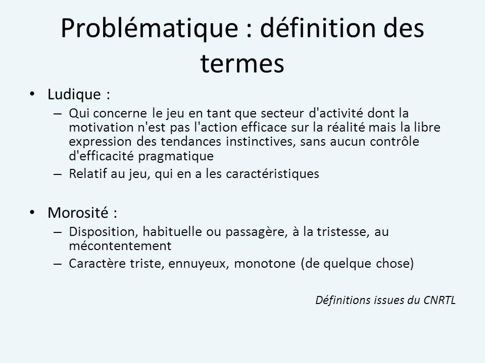 Problématique : définition des termes