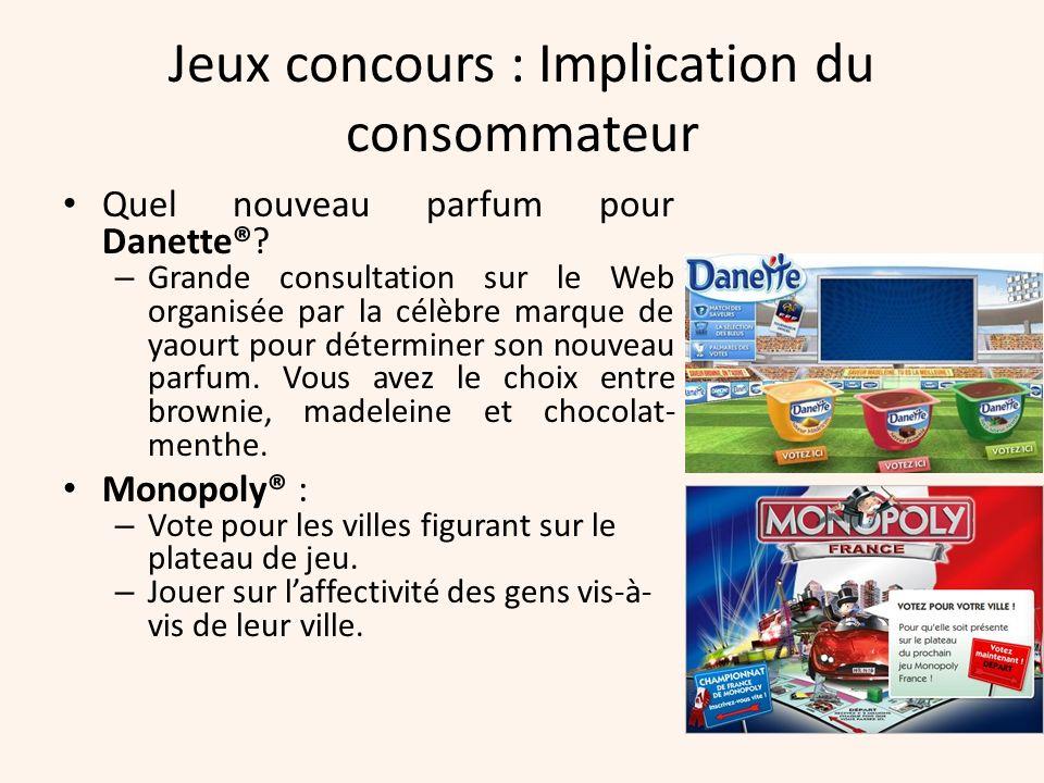 Jeux concours : Implication du consommateur