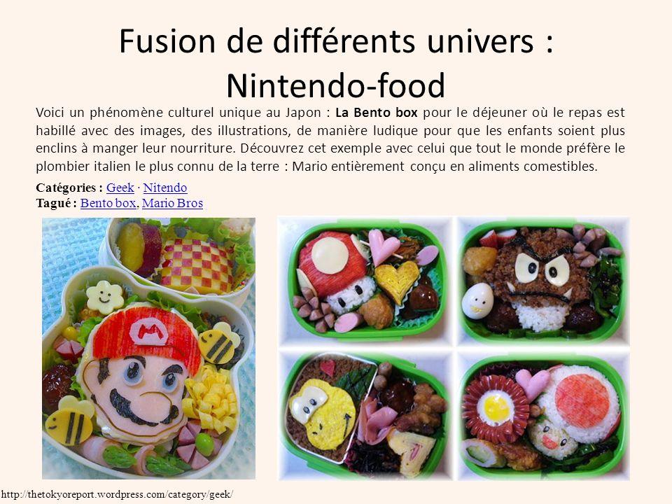 Fusion de différents univers : Nintendo-food