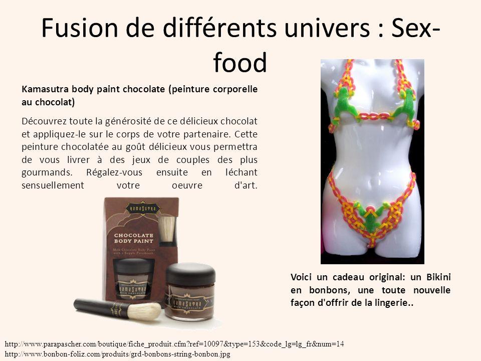 Fusion de différents univers : Sex-food