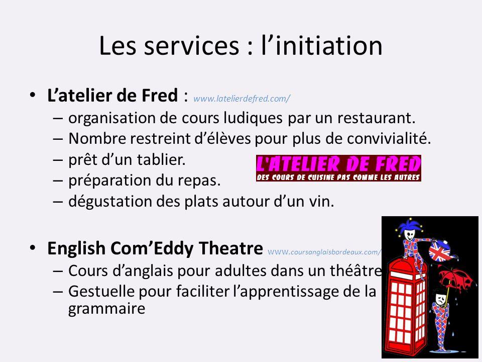 Les services : l'initiation