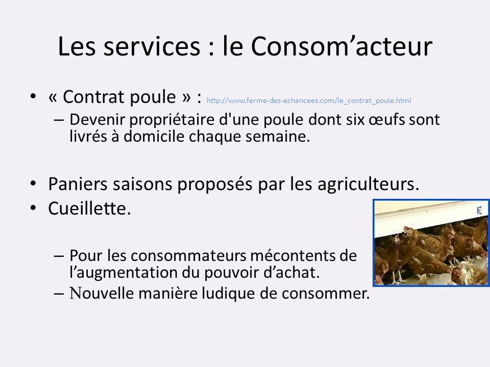 Les services : le Consom'acteur