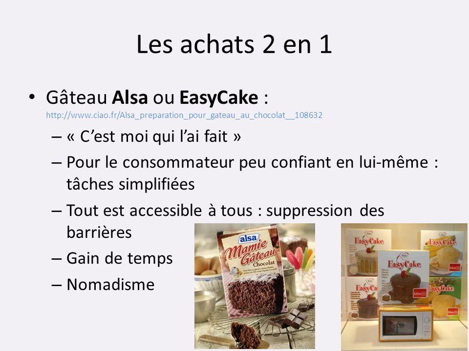 Les achats 2 en 1 Gâteau Alsa ou EasyCake : http://www.ciao.fr/Alsa_preparation_pour_gateau_au_chocolat__108632.
