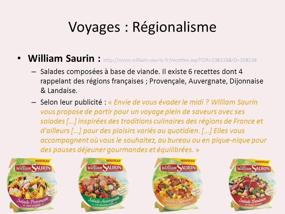 Voyages : Régionalisme