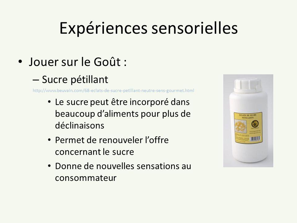 Expériences sensorielles