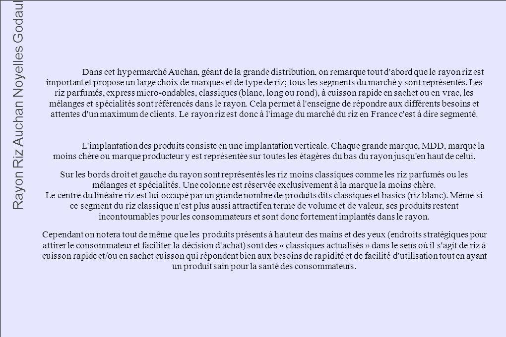 Rayon Riz Auchan Noyelles Godault
