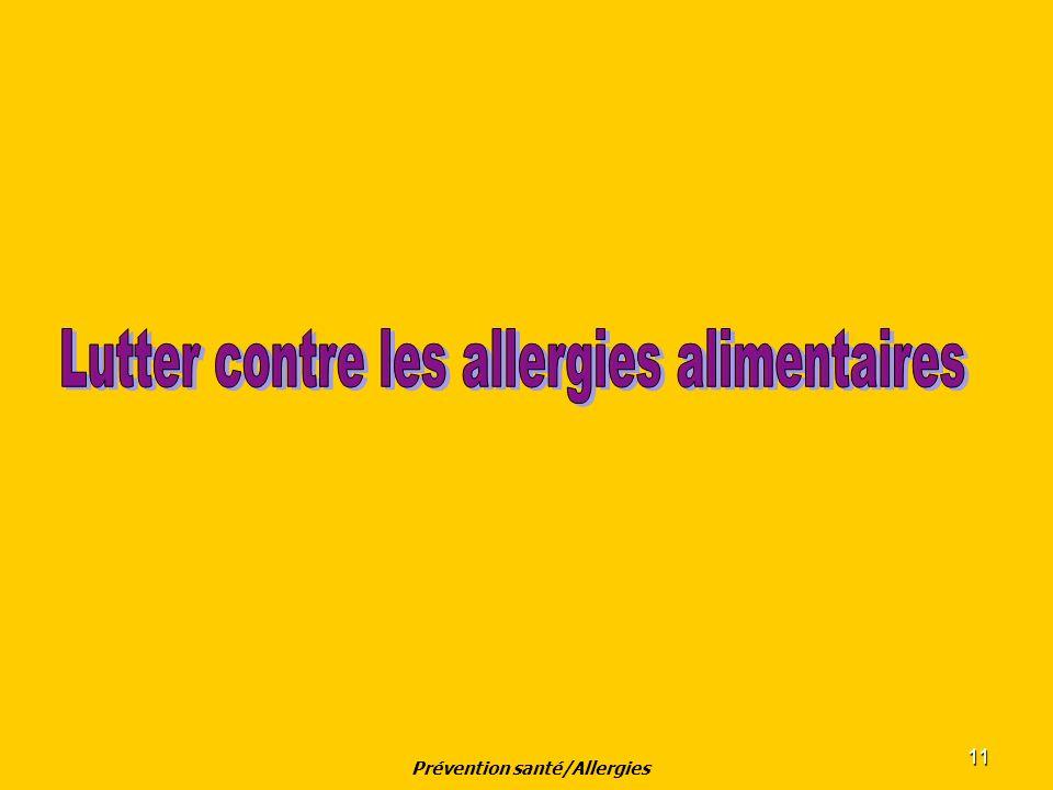 Prévention santé/Allergies